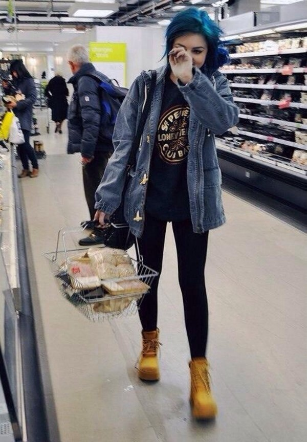 Awesome Colorful Hair Cute Denim Denim Jacket Fashion Girl Grunge Hair Hot Indie