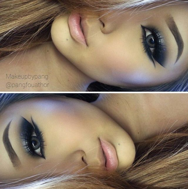 beauty, charming, eyeshadow and face