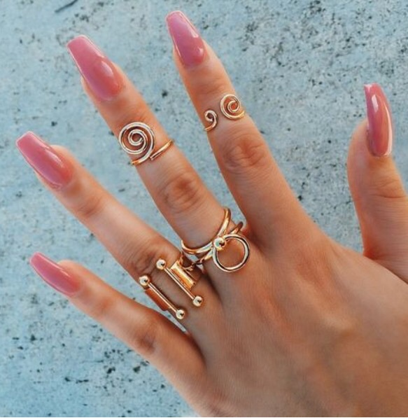 Acrylic Nails, Jewel, Jewelry, Nail Color, Nails, Rings