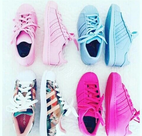 adidas superstar with colours