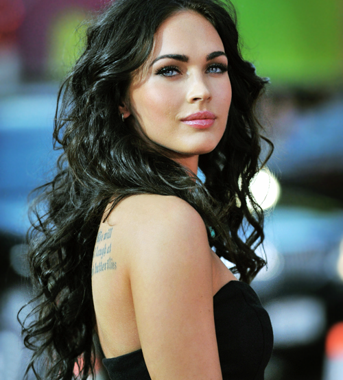 beauty, blue eyes, brunette, glamour, make up, megan, megan fox