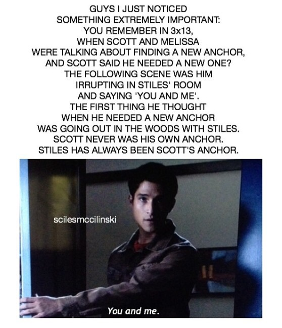 allison argent, anchor, scott mccall, stiles stilinski, teen wolf