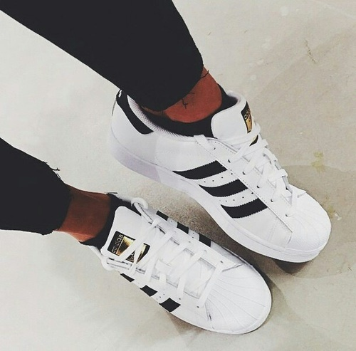 adidas superstar all black tumblr