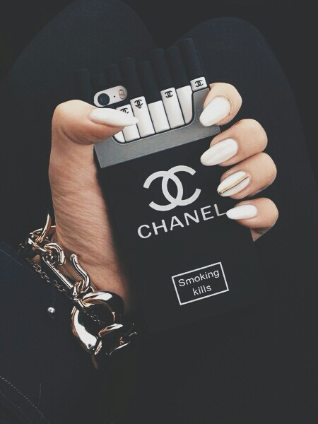 Chanel Dark Filters Iphone Cases Nails Image 3568187