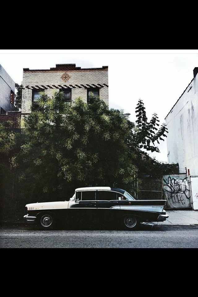 aesthetics, black, cadillac, car, city, grunge, house, indie, instagram, lanscape, london, neighbourhood, new york, old, old car, pale, retro, road, soft, tree, vintage, 67 chevy impala
