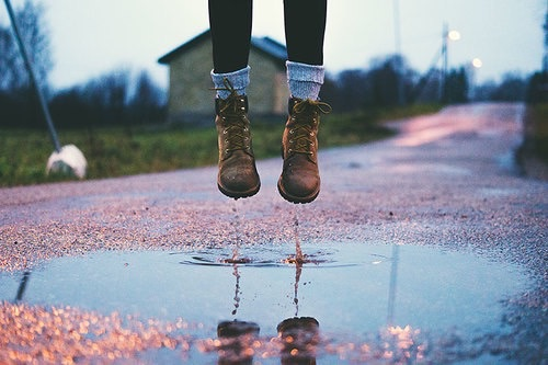 boots, drops, farm, photography, reflection, shadow, water