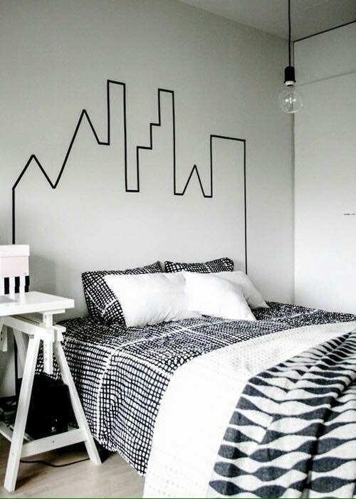 Bed black city cute diy image 3710937 by marine21 for City themed bedroom ideas