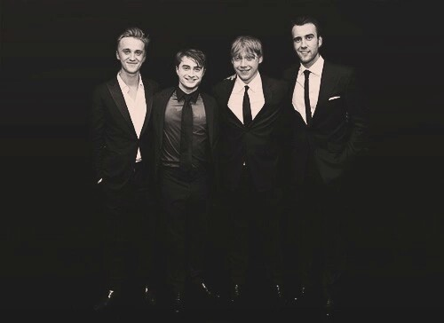 boys, daniel radcliff, draco malfoy and harry potter