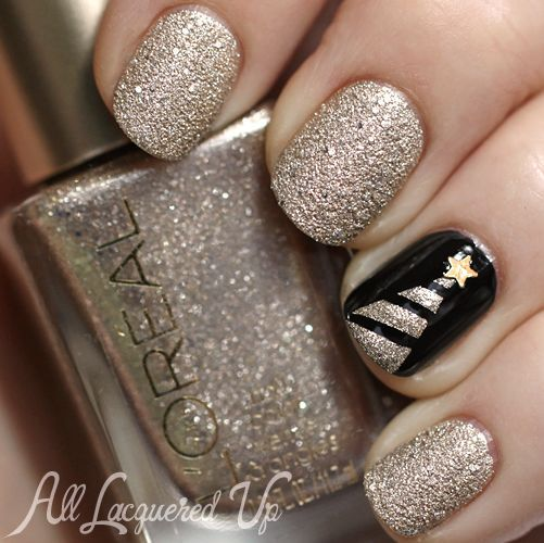 beauty, black, celebration, celebrations, christmas, christmas time, christmas tree, december, gold, happy new year, holiday, holidays, manicure, merry christmas, na, nail, nails, new year, night, spruce, star, striped, stripes, fir-tree